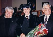 Ehrungspromotion von KHS in Moskau 1994 mit v.l. G.Popov und G.Yagodin